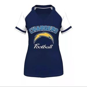 Majestic Chargers Shirt Blue White NFL Large